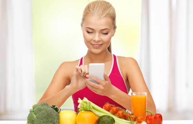 femme de compter les calories