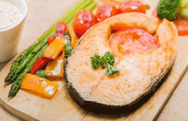 Pavé de saumon riche en oméga-3