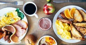 petit dejeuner copieux