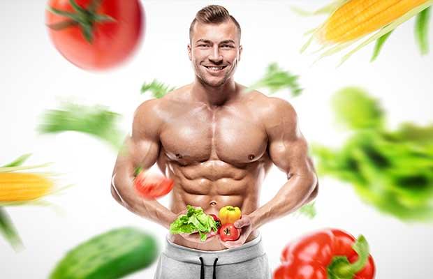 Culturiste manger des légumes